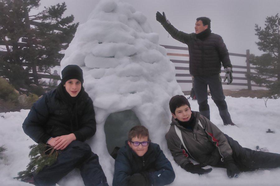 Y construimos un iglú